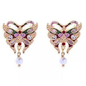 Betsey Johnson Butterfly Pearl Drops